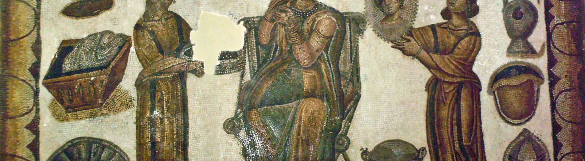 La mosaïque de la scène de toilette de Sidi Ghrib