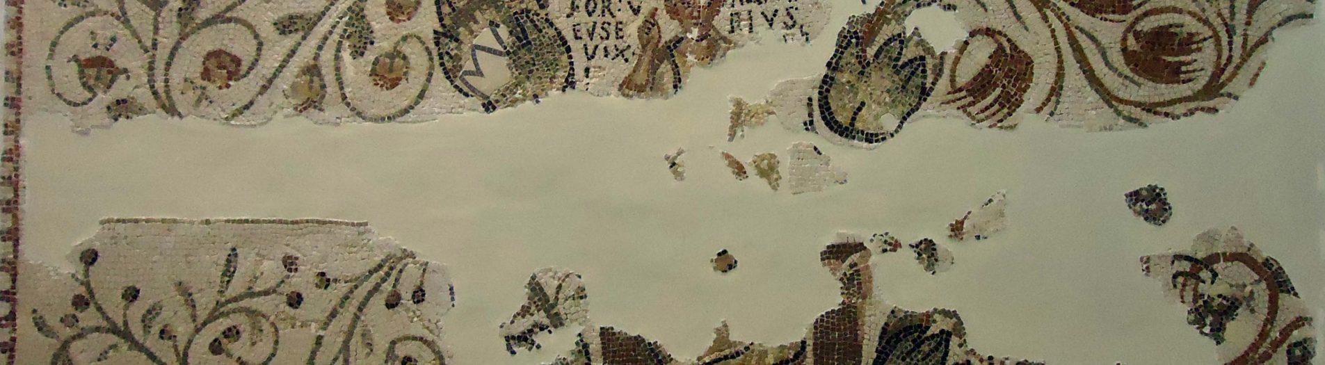 La Mosaïque funéraire de l'enfant Papirius Fortunatianus Eusobius de Dougga