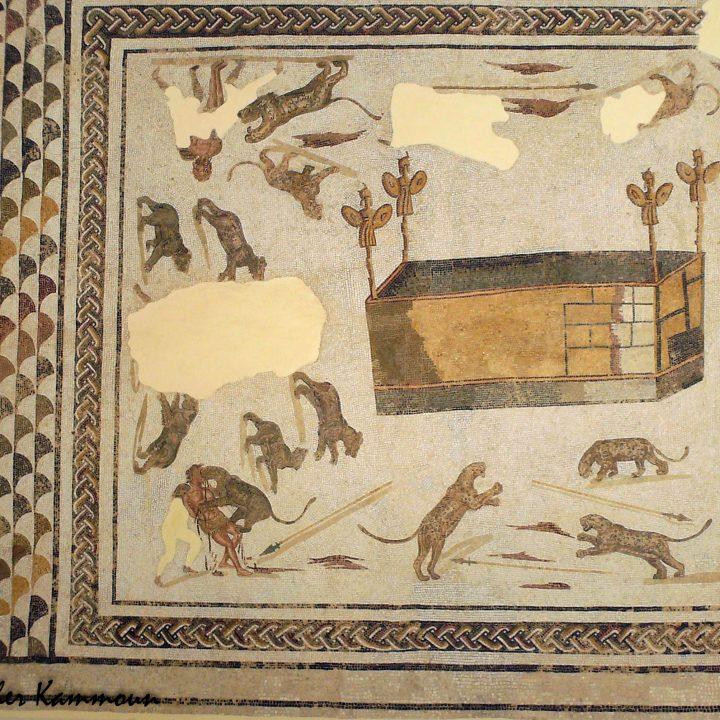 Les combats dans les amphithéâtres dans les mosaïques romaines en Tunisie