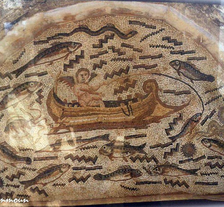 La mosaïque de l'Amour pêcheur d'Utique