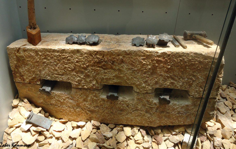 Des outils et des techniques utilisés à Chemtou, musée de Chemtou