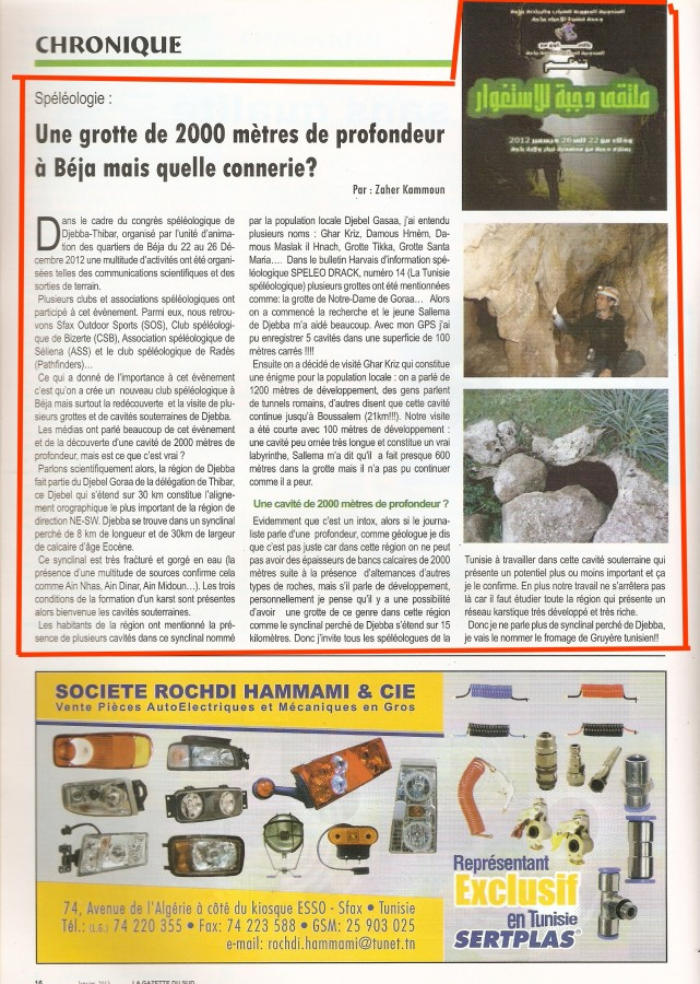 La Gazette du Sud 2013