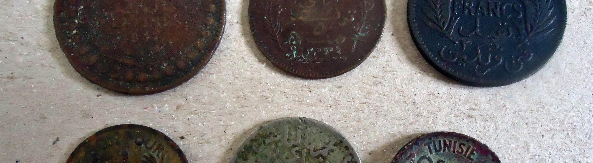 Les monnaies en Tunisie de 1574 et 1956
