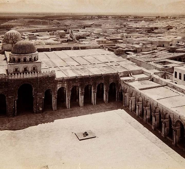 La Grande mosquée de Kairaoun dans les anciennes photos