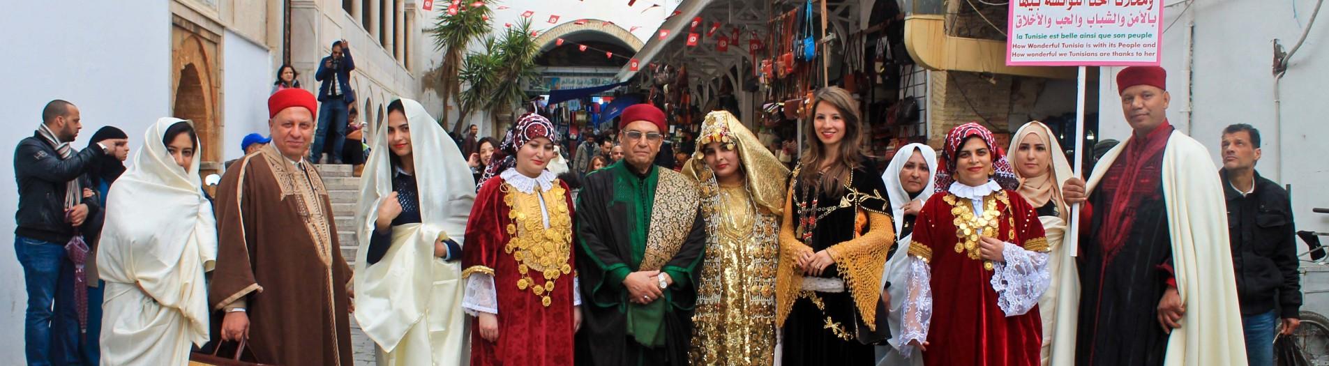 Le costume traditionnel Sfaxien dans la médina de Tunis