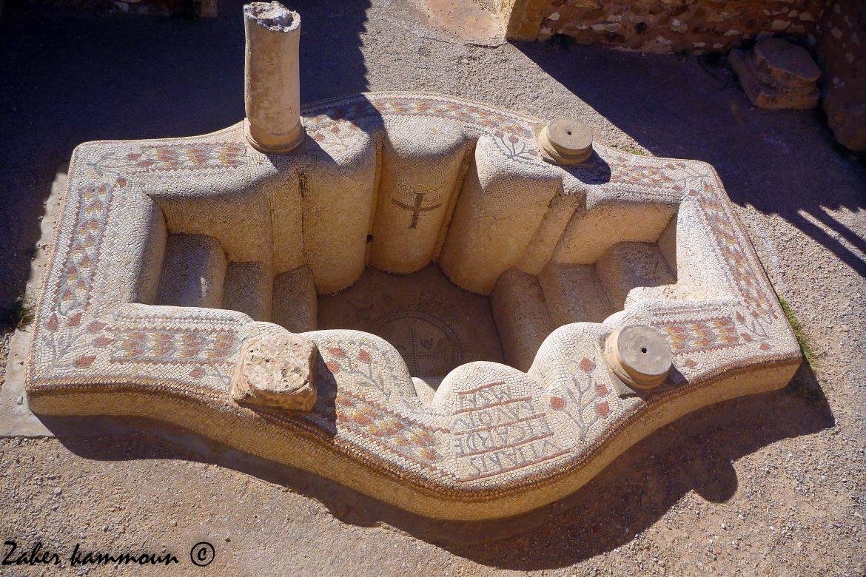 Le baptistère de l'église de Vitalis
