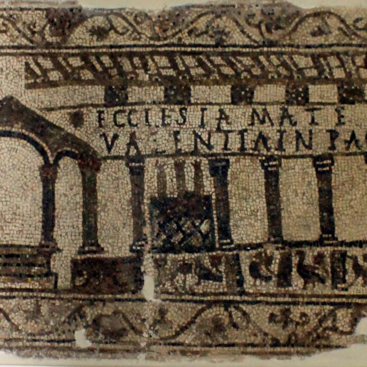 La mosaïque de l'église de Tabarka