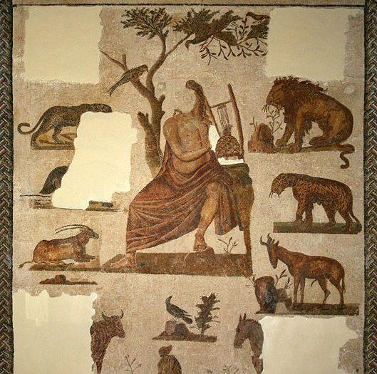 Mythes et légendes inspirés par la musique dans la mosaïque romaine en Tunisie