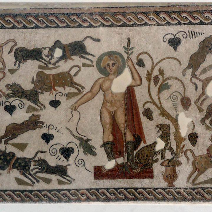 La mosaïque de Dionysos et du Gecko d'el Jem