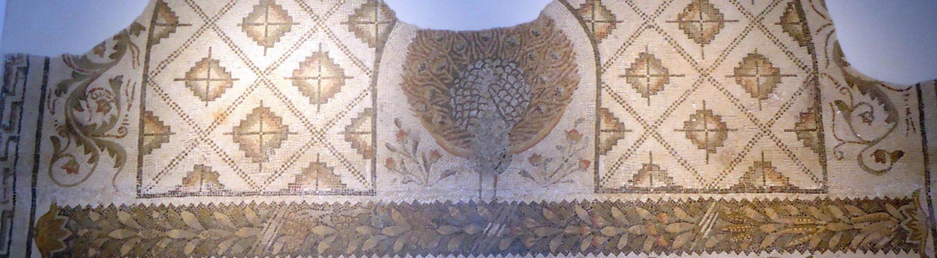 La mosaïque du paon et des chevaux de Carthage