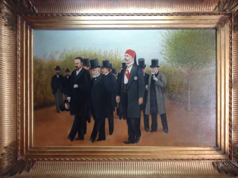 محمد الهادي باي رفقة الرئيس الفرني اميل لوبي سنة 1904