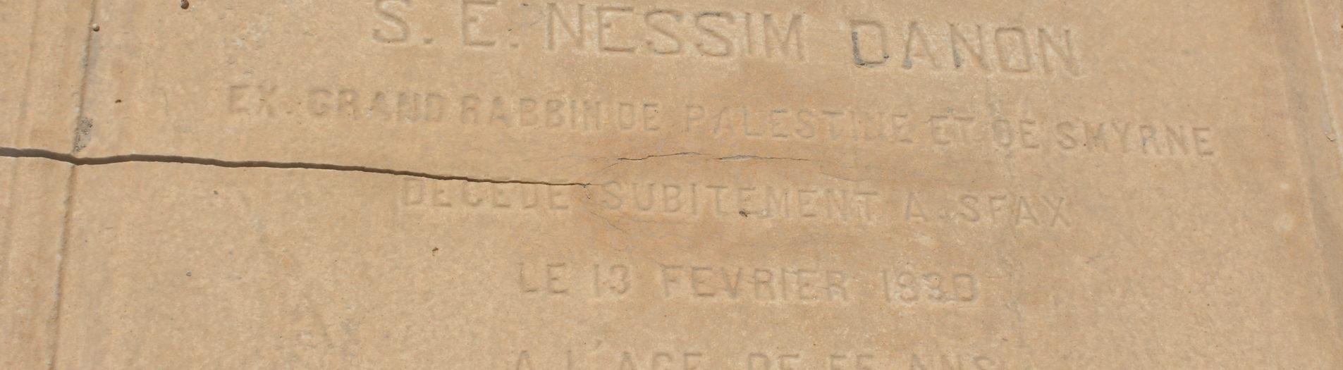 Le Rabbin Nessim Danon à Sfax